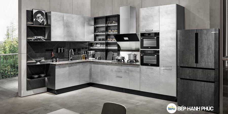 5 Mẫu Kệ Bếp, Tủ Bếp Bằng Nhựa PVC Đẹp 4