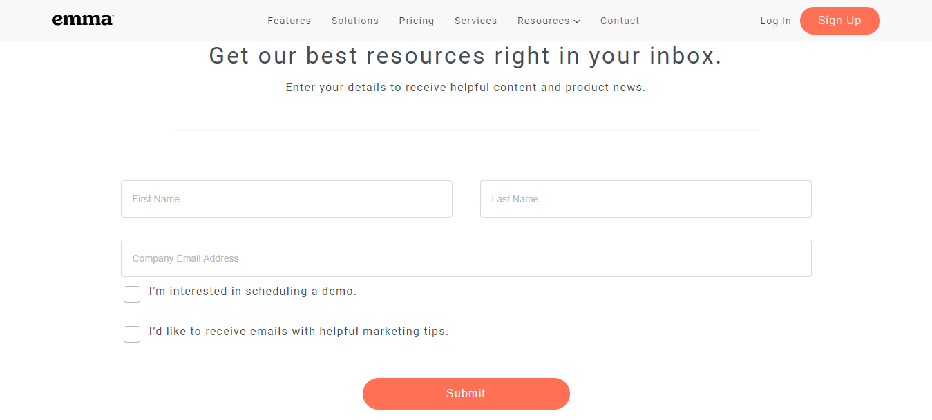 This one is the most common (and obvious) choice: An email signup form on your website.
