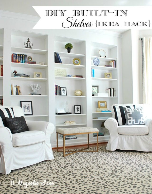 Built-in Bookcases: These will help you save maney and transform your space.