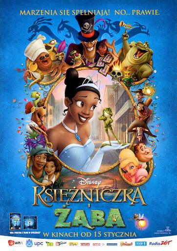 Przód ulotki filmu 'Księżniczka i Żaba'