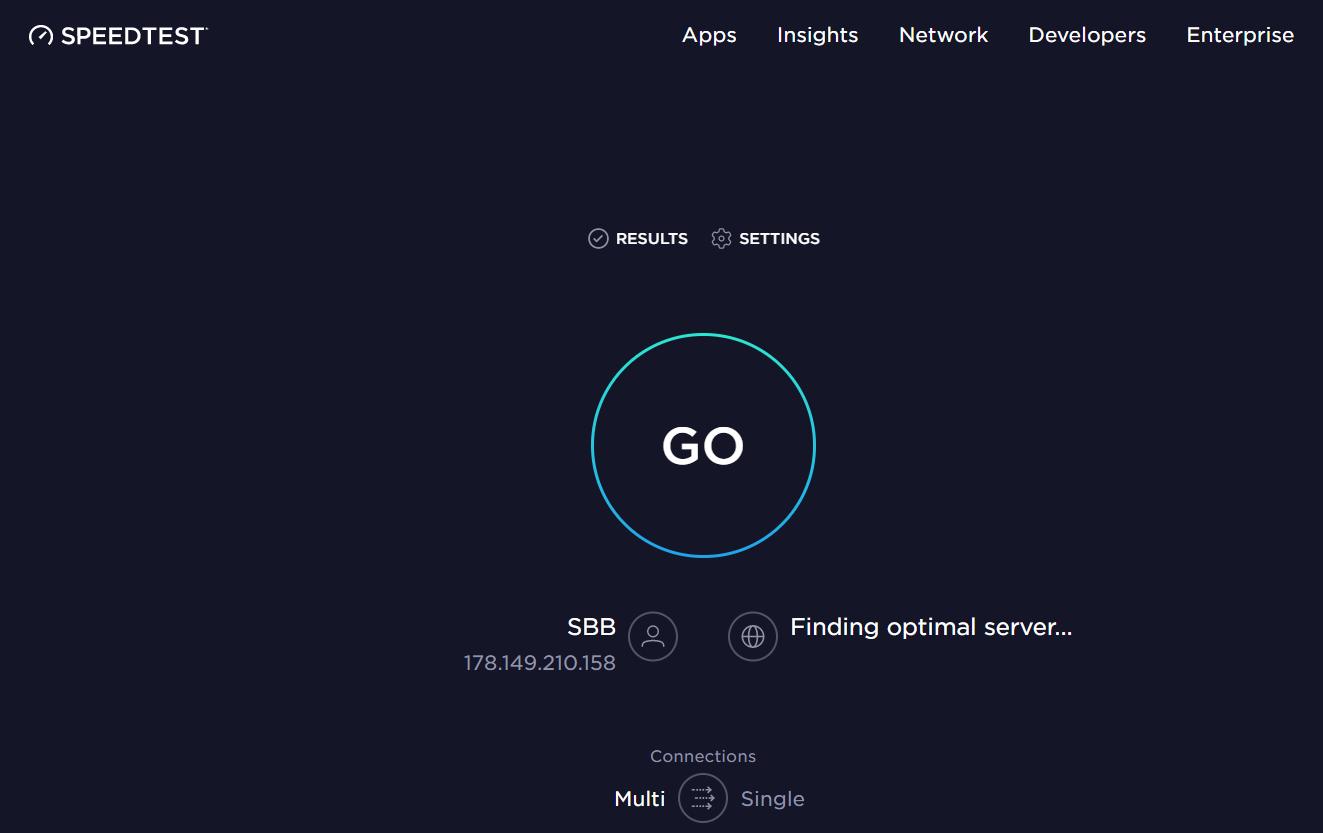 speedtest for website