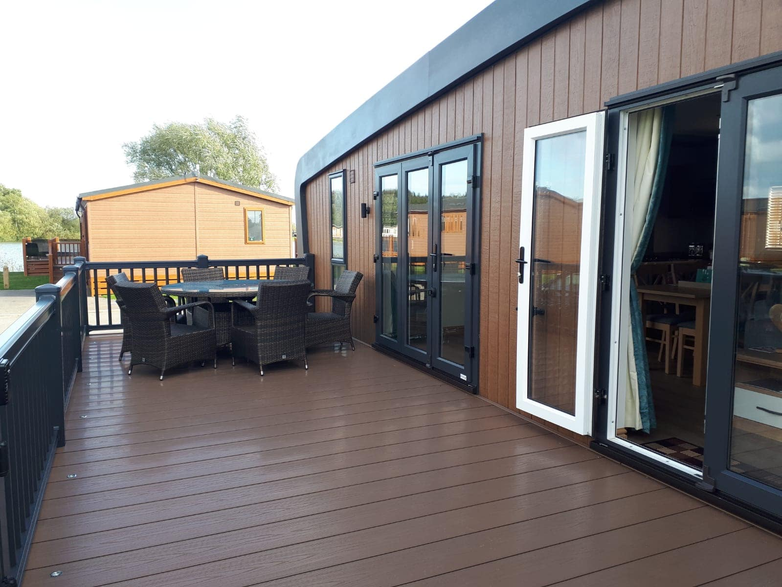 Luxury holiday home with decking