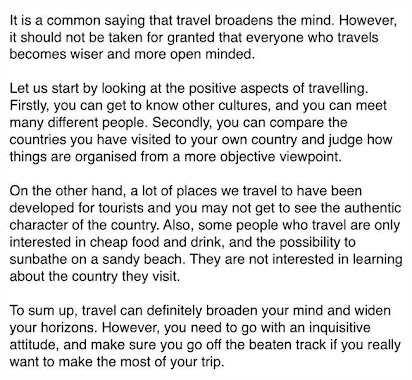 Travelling broadens the mind essay popular personal statement ghostwriting services usa