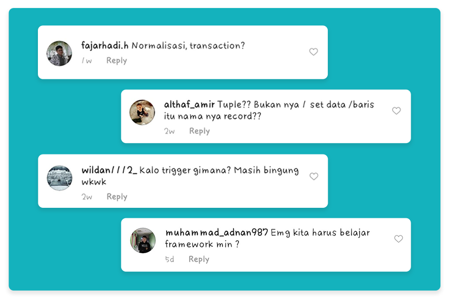 Komentar di Instagram Coding Studio