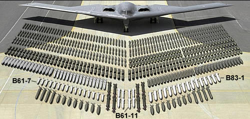 B-2 with B-61 other weapons