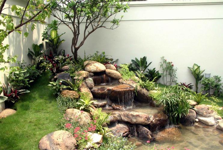 Thiết kế tiểu cảnh mô phỏng thác nước tự nhiên