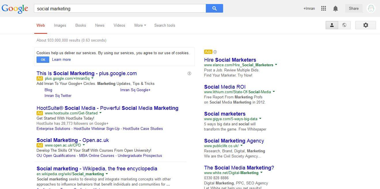 AdWords Social Marketing Trick