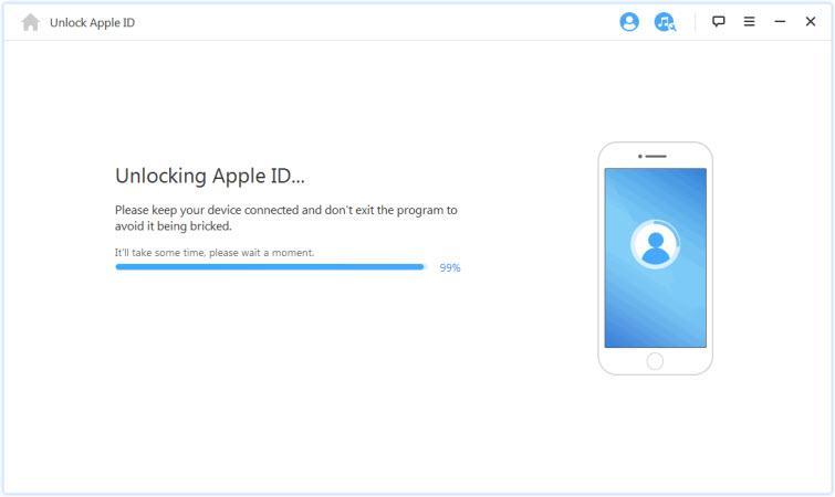 unlocking Apple ID: iPad unlocking process started