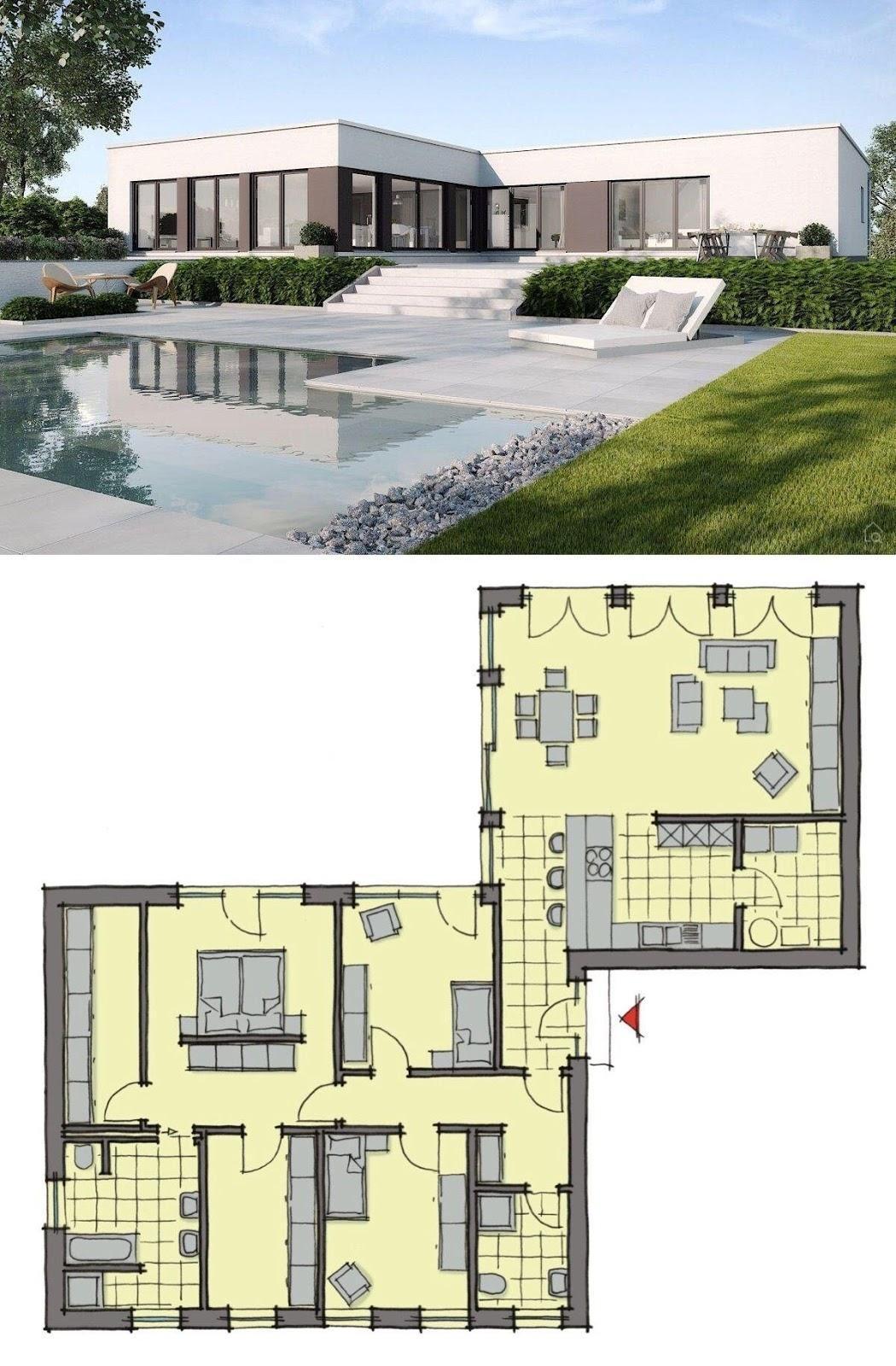 Desain Dan Denah Rumah Mewah Elegan Dan Minimalis