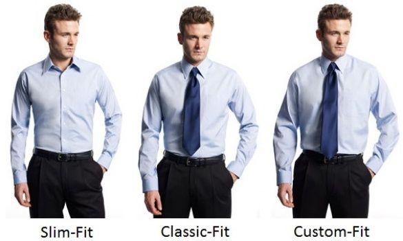 мужские рубашки слим фит