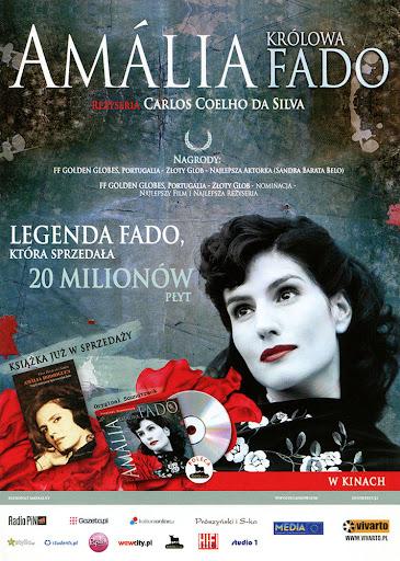 Przód ulotki filmu 'Amalia. Królowa Fado'