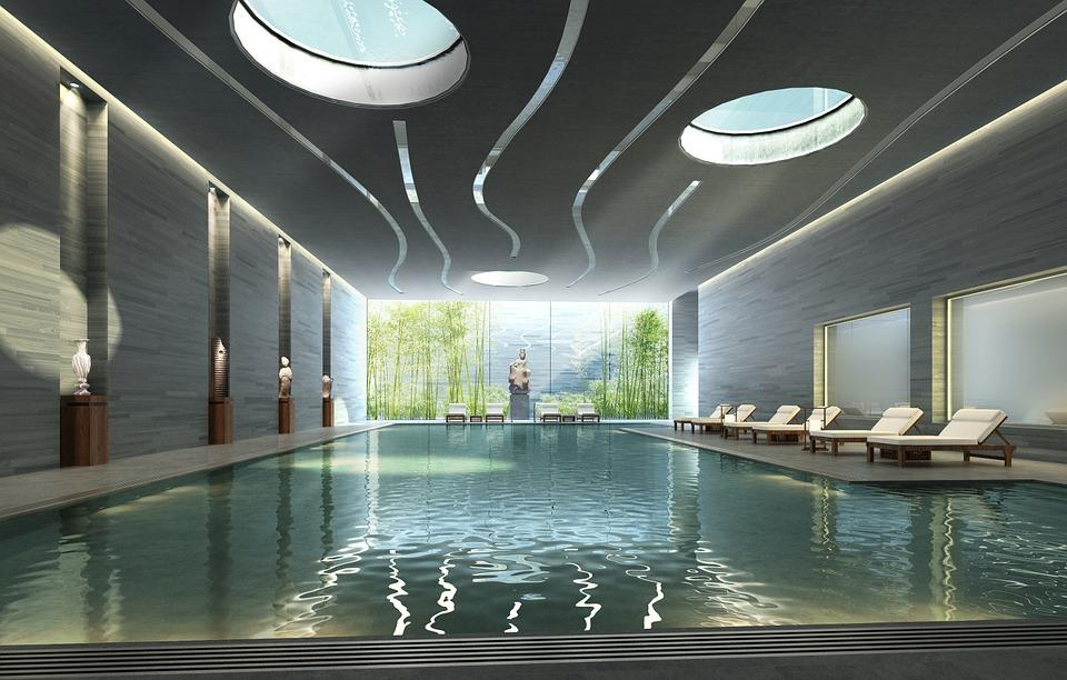 Interior, Piscina, Renderizado, Visualización