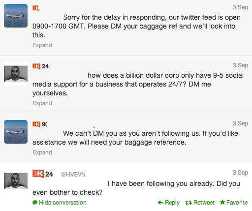 ejemplo de mal servicio al cliente en redes sociales