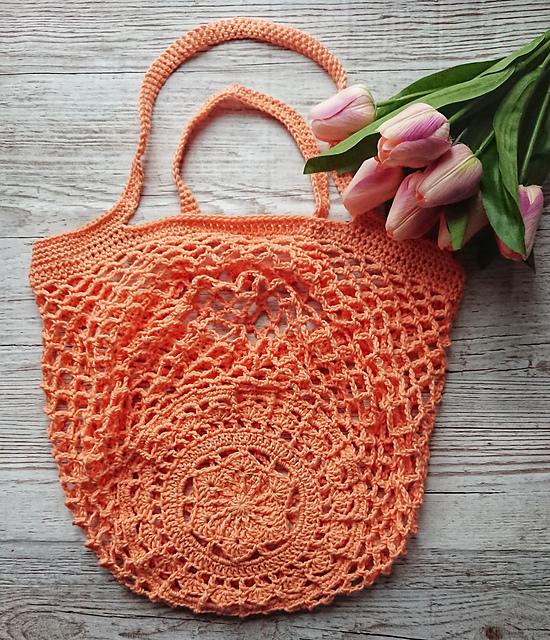 Sakura Market Bag Crochet Pattern