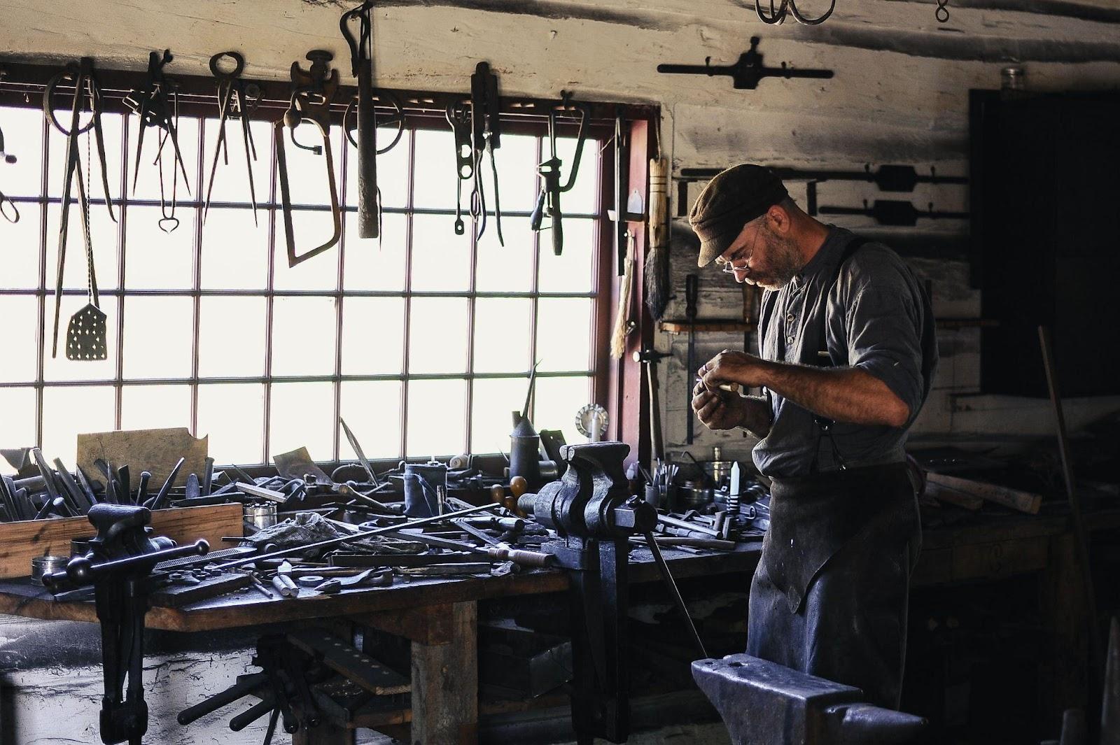 tradesman working