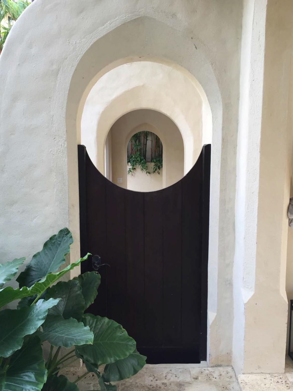 Casa Brewer Garden Entrance