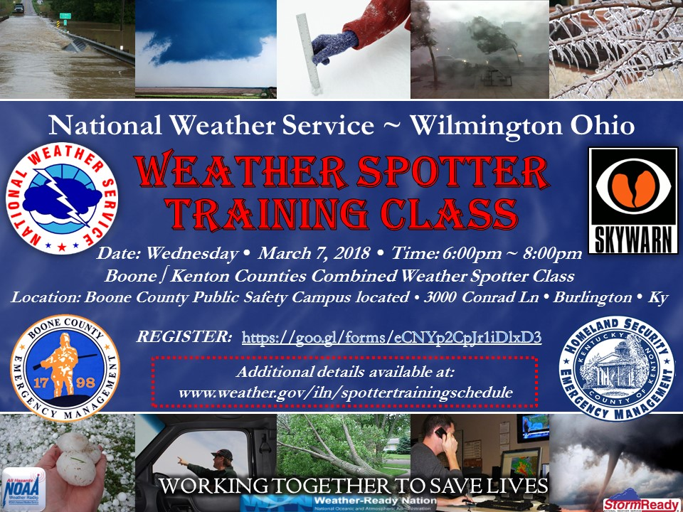 Boone & Kenton County National Weather Service Weather Spotter Training Class