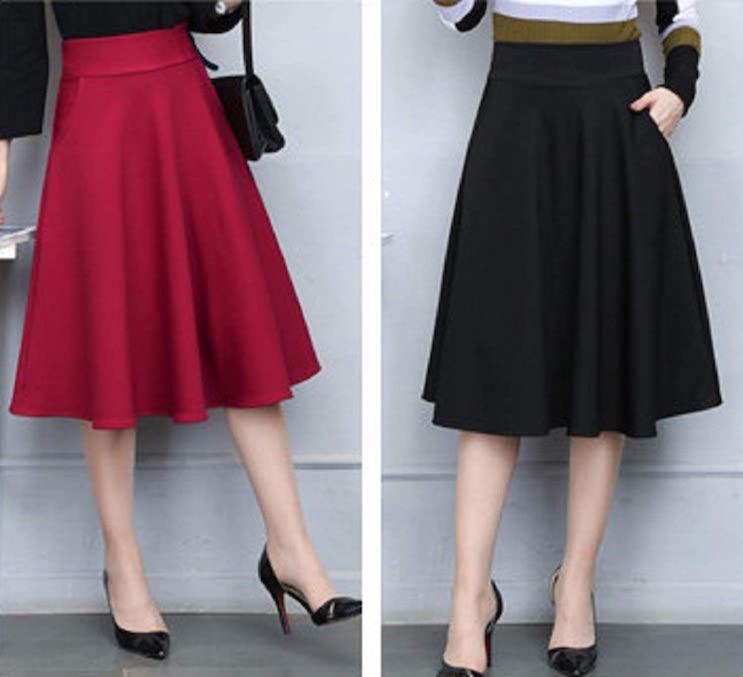 シンプル ロング スカート