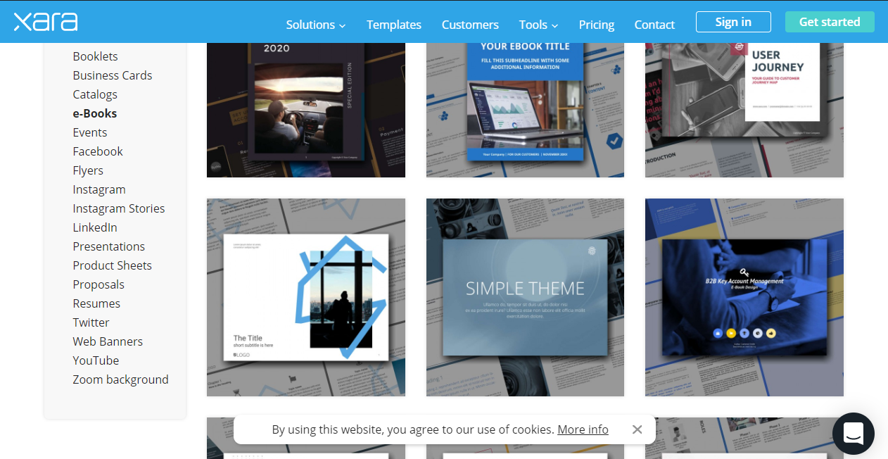Xara – online document sharing platform for marketing books and more.