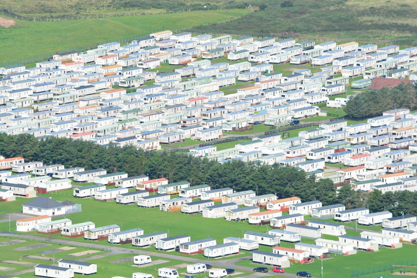 large static caravan park