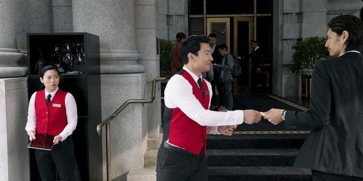 شانج شي كعامل فندق في أمريكا