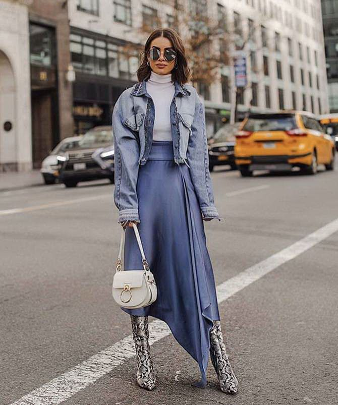 Sweater and a skirt: the most fashionable winter combinations 18
