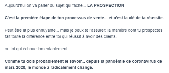 Newsletter exemple
