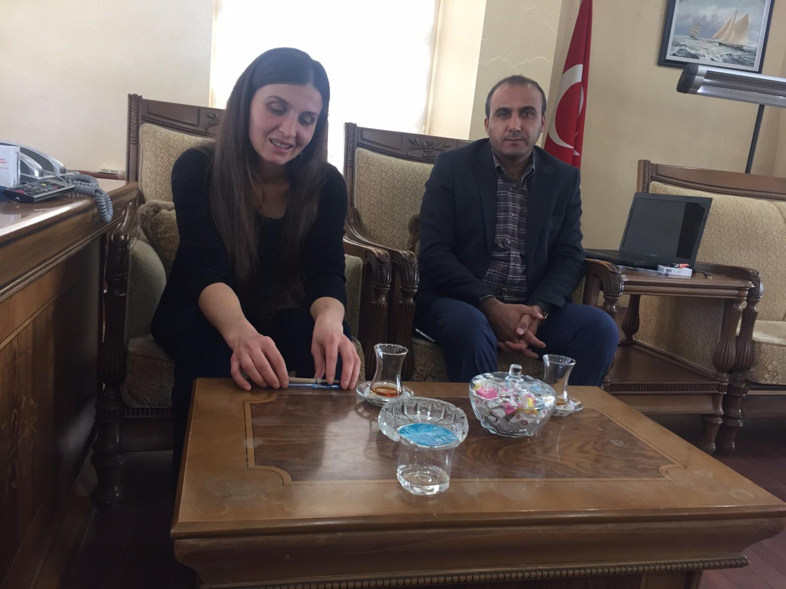 Belediyesi Eş Başkanvekilleri Zuhal Tekiner ile Kerem Canpulat
