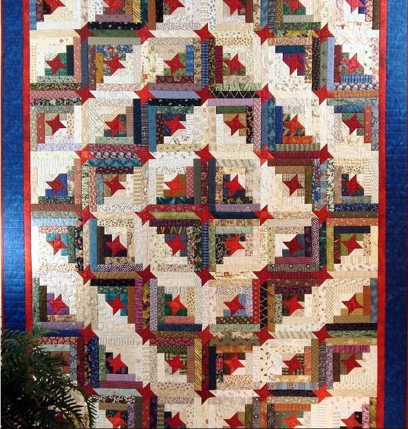 Friendship Log Cabin Quilt - Pattern by Bluprint Member