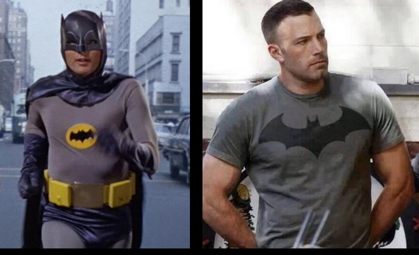 Evolution du physique de Batman