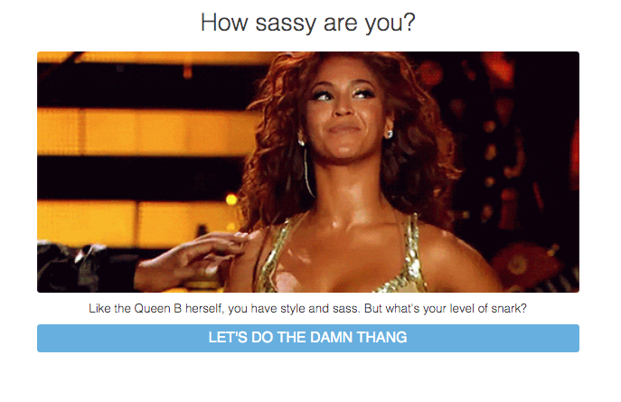 How sassy are you? quiz cover