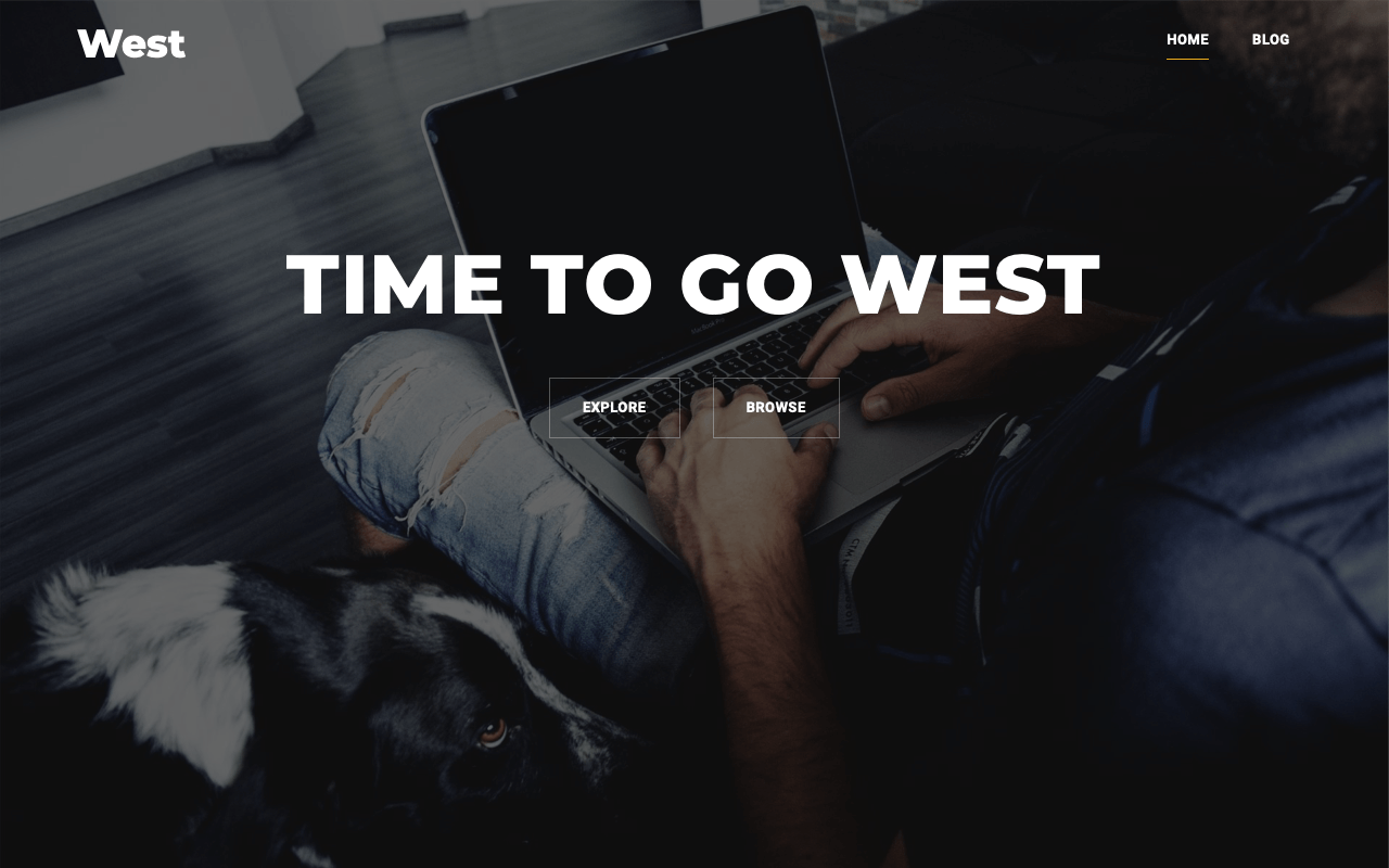 West Landing Page Template