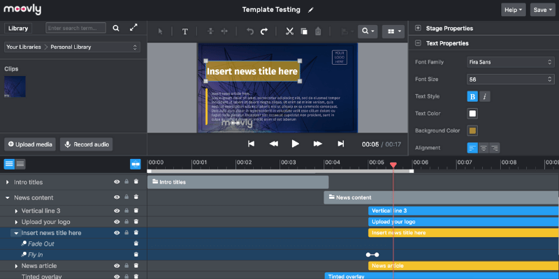moovly - video editor tool for business
