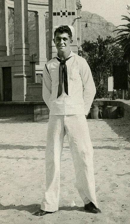 Bob in Palermo, Italy in 1945