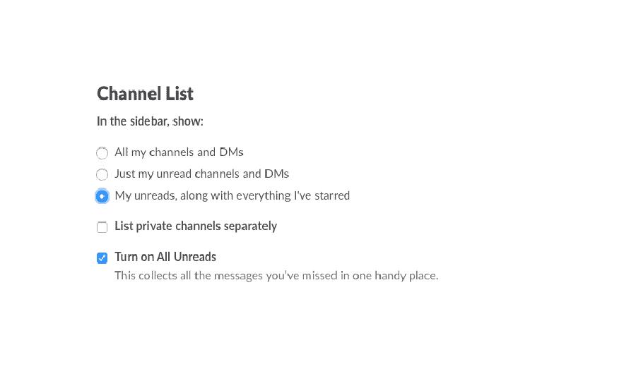 Скрыть неактивные каналы в Slack