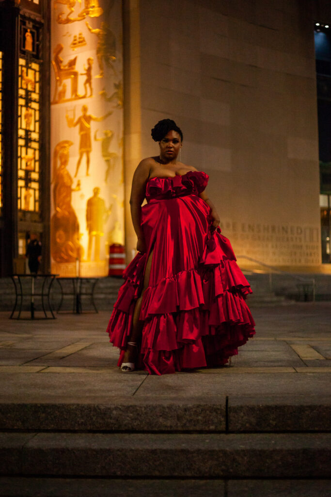 This image has an empty alt attribute; its file name is Courtney-Nolle-Plus-Size-Gown-Redd-Strapless-Satin-Ball-Gown-Front-1-683x1024.jpeg
