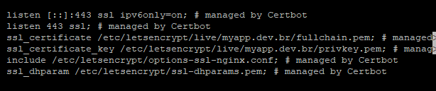 Configurações no arquivo de nosso site