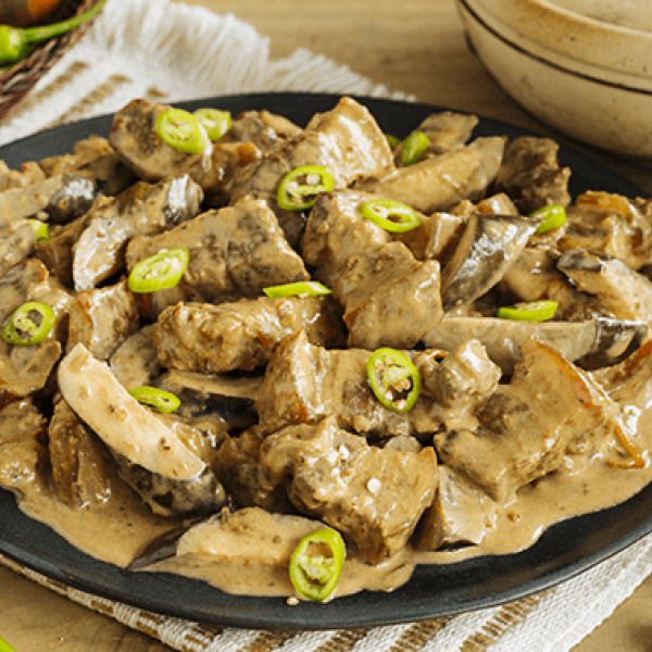 one-pot meals to try pork in creamy bagoong sauce