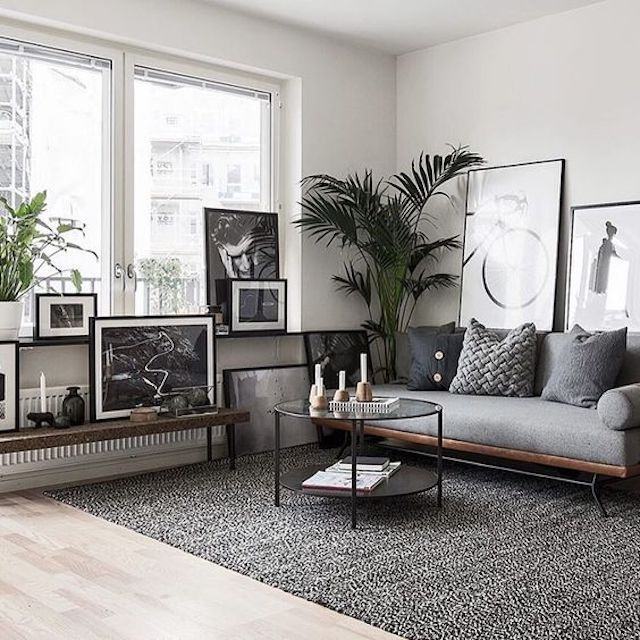 A Simple Ideas To Remodel Your Living Room Wall By Leaning Artwork