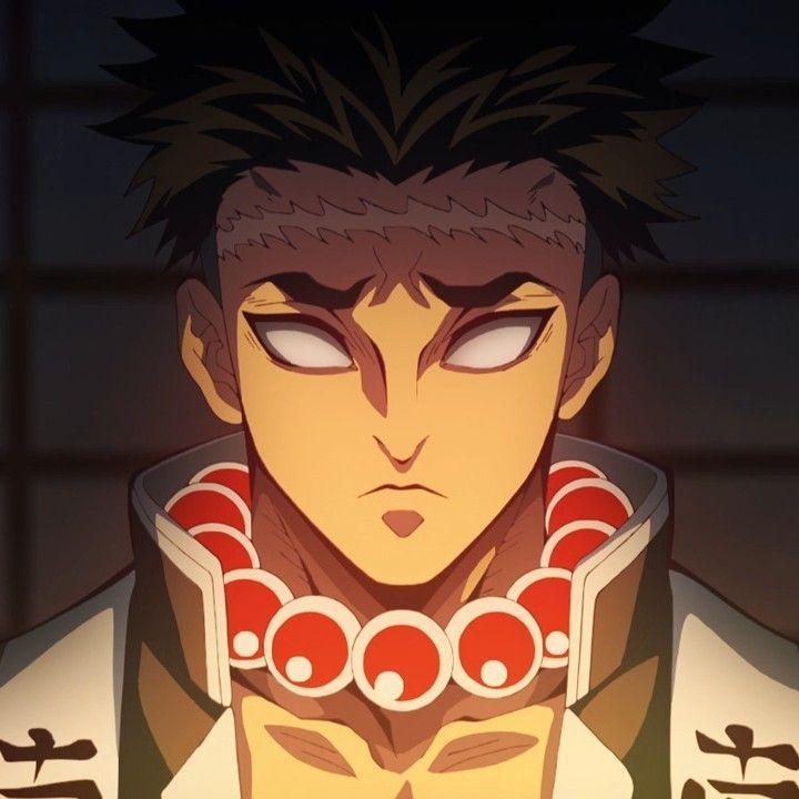Kimetsu no yaiba | Gyomei Himejima Anime Characters, Avatar, Iron Man, Dark Art, Cartoon Characters