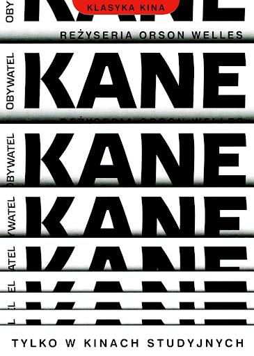 Przód ulotki filmu 'Obywatel Kane'