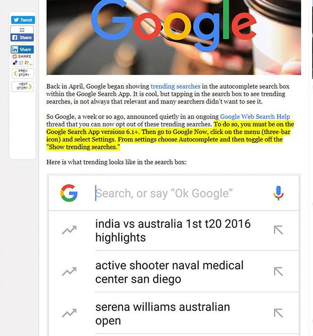 Fragmentos del contenido resaltados, una posible actualización de Google 2