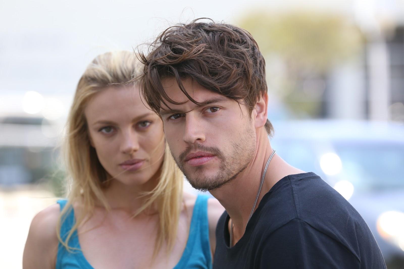 Trafficking recruiters Kara (Bar Paly) and Greg (Will Brandt).JPG