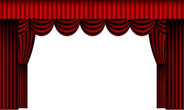 Red Theater Curtains Free ...