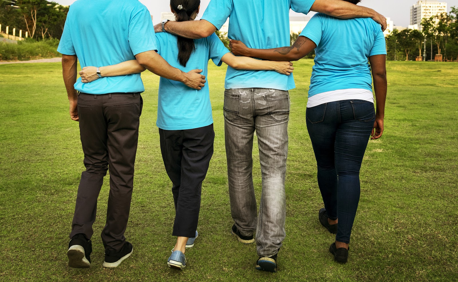how to start a nonprofit organization: four people walking