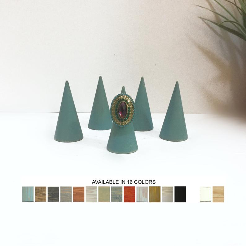 cone shaped ring display