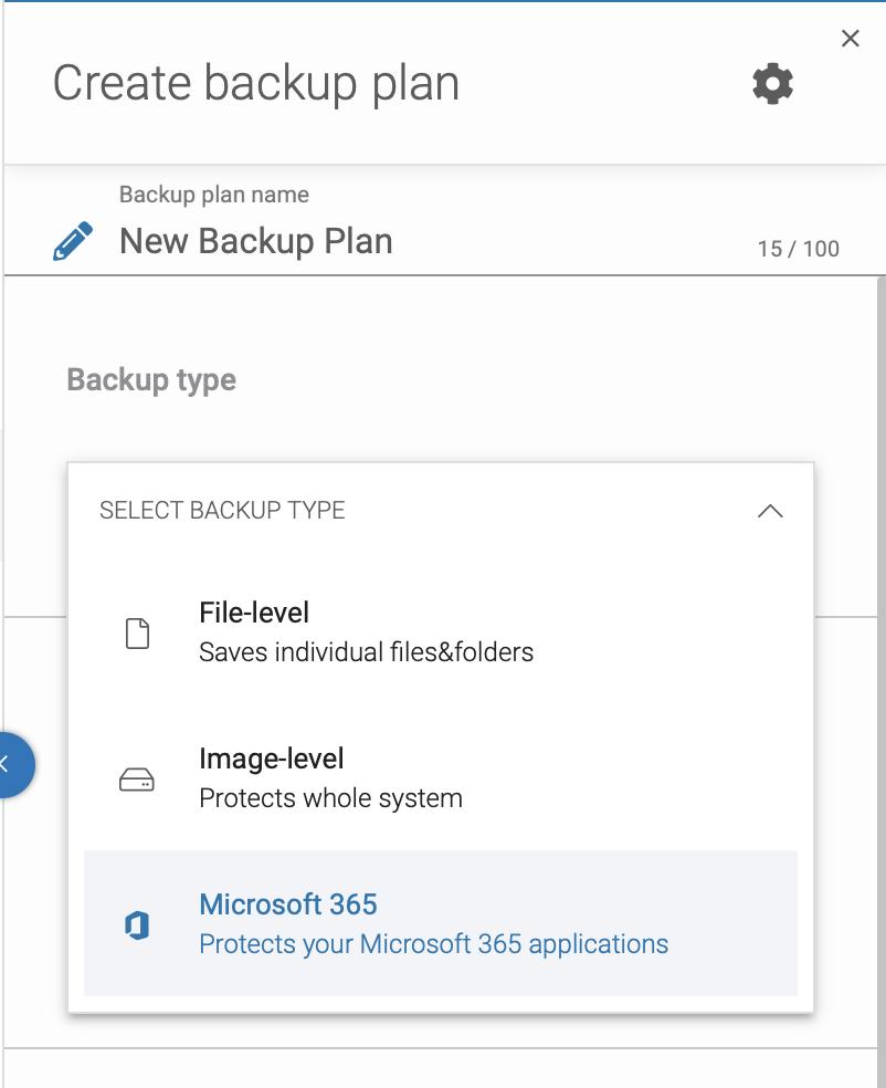 Create your Microsoft 365 backup plan