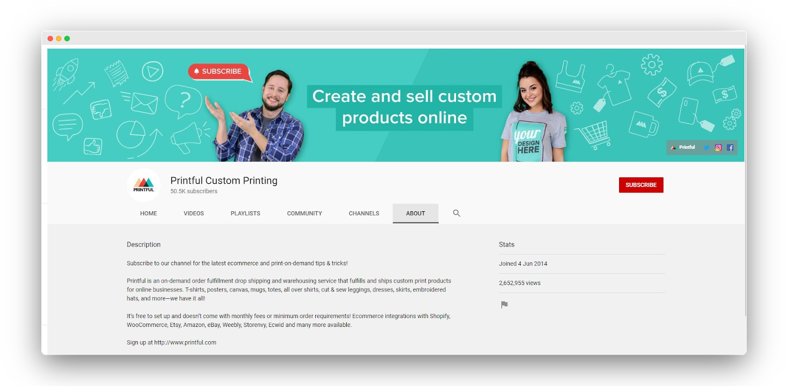Printful-youtube-channel-about-selling-online