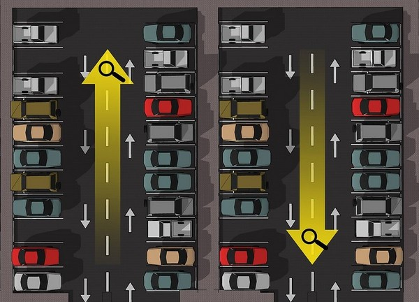 diagram of a parking lot