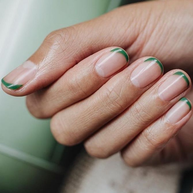 gentle manicure for short nails